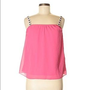 """NWOT Beautiful """"Veronica"""" Pink Blouse with Daisy's"""